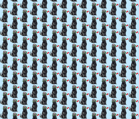 Black Lab And Roses fabric by dogdaze_ on Spoonflower - custom fabric