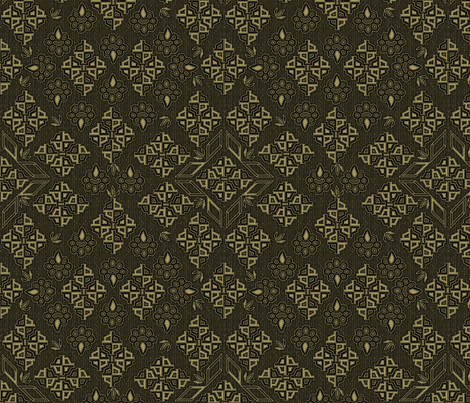 ©2011  Tribal - Coffee fabric by glimmericks on Spoonflower - custom fabric