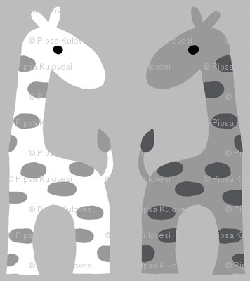 Giraffes BW