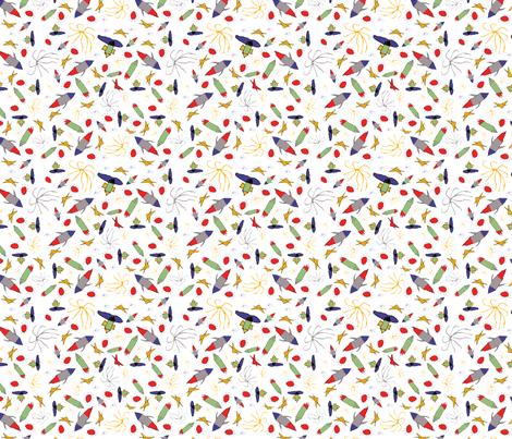 DesignrocketSpace fabric by kathreenricketson on Spoonflower - custom fabric