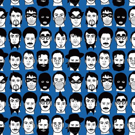 Beards, Bandits, Bigotes fabric by totallysevere on Spoonflower - custom fabric