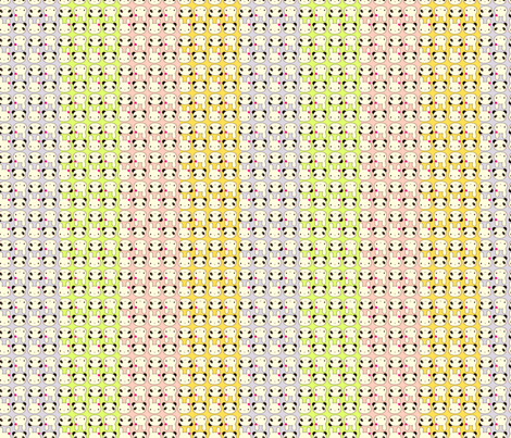 Tiny Bunny & Panda - Rainbow fabric by marcelinesmith on Spoonflower - custom fabric