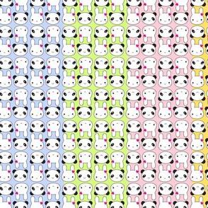 Tiny Bunny & Panda - Rainbow