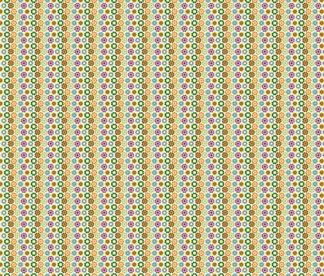 Tiny Vintage Flowers fabric by marcelinesmith on Spoonflower - custom fabric