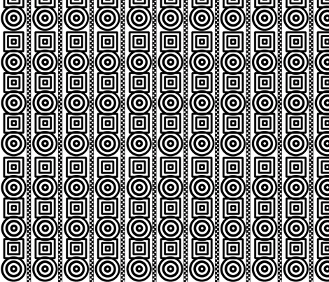 Dizzy Circles Quirky Squares dotted stripes fabric by minniemeatdaydreamstudio on Spoonflower - custom fabric