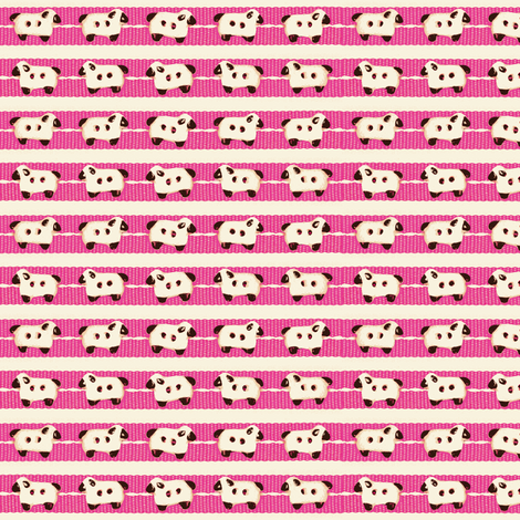 Sheep-on-Ribbons Pink fabric by incomparable on Spoonflower - custom fabric