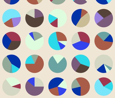 Pie Charts (Inverted) fabric by candyjoyce on Spoonflower - custom fabric