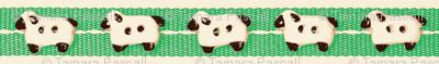 Sheep on Green Ribbons
