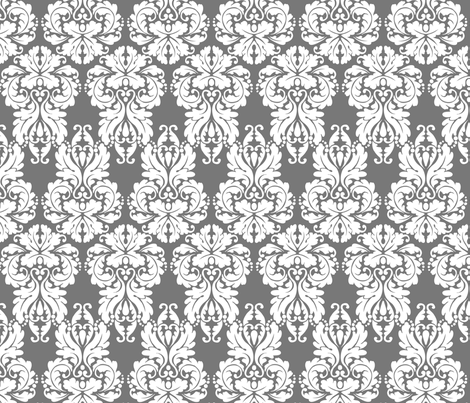 Aiden – Damask fabric by wrkdesigns on Spoonflower - custom fabric