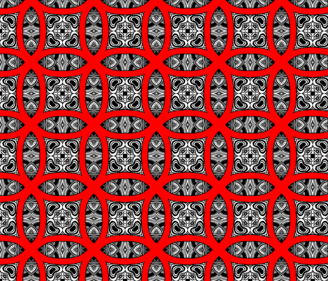 Red circles fabric by imichalova on Spoonflower - custom fabric