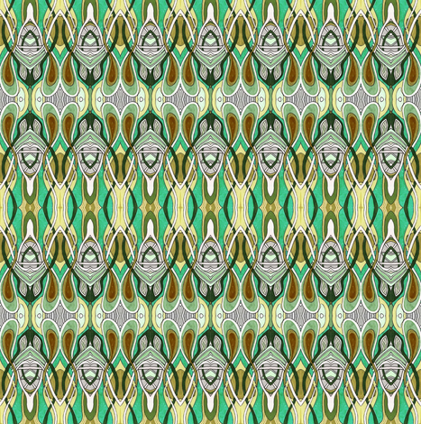 Flies at the Speakeasy (green) fabric by edsel2084 on Spoonflower - custom fabric