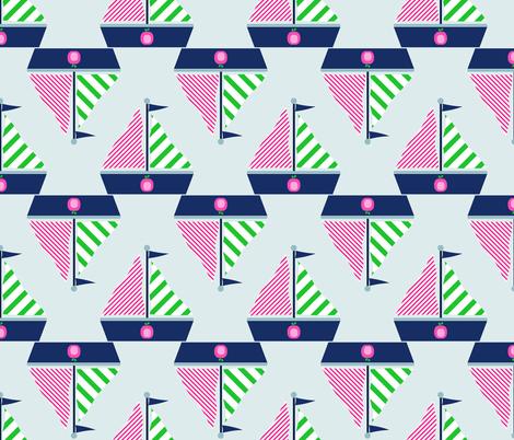 Sailboats fabric by kiwibloom on Spoonflower - custom fabric