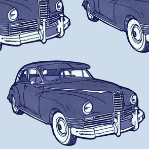 Really Big 1946 Packard in blueprint tones