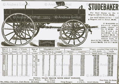 1925 Studebaker wagon ad (white)