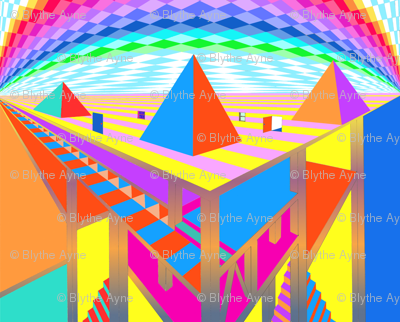 Brightly Colored Great Pyramids - Blythe Ayne
