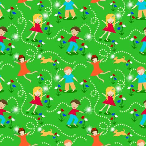 Sparklers!  Wheeeee!   fabric by vo_aka_virginiao on Spoonflower - custom fabric