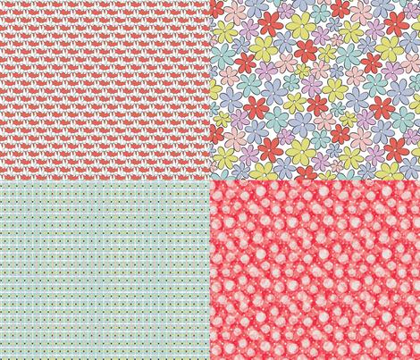 vintage bloom fabric by evita on Spoonflower - custom fabric