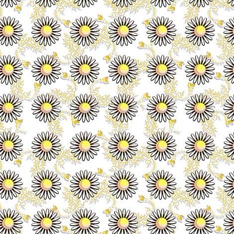 Daisies fabric by joanmclemore on Spoonflower - custom fabric