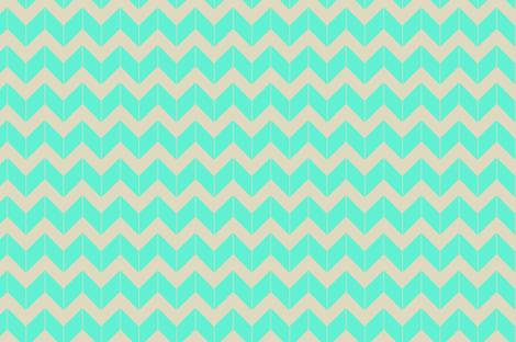 aqua dimensional chevron fabric by fleamarkettrixie on Spoonflower - custom fabric