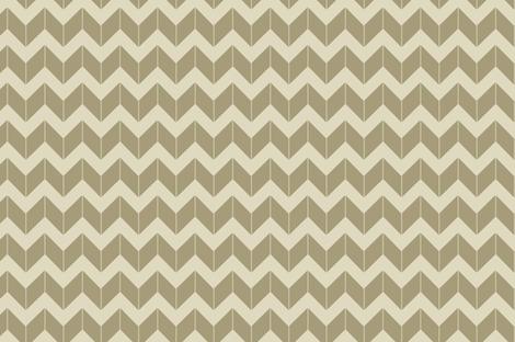 khaki dimensional chevron fabric by fleamarkettrixie on Spoonflower - custom fabric