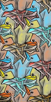 Baby birds in nests