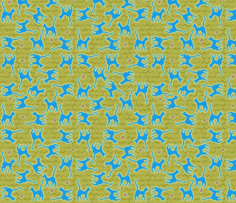 ©2011 Kitty Kitty of 1000 Lakes fabric by glimmericks on Spoonflower - custom fabric