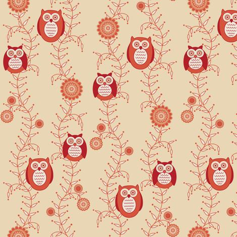 Retro Owls fabric by strive on Spoonflower - custom fabric