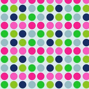 Multi Dotty Dots-Berry Nautical
