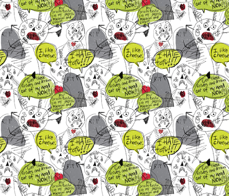 Zombie Walk by Ethan Shipley, age 12 fabric by laurieshipley on Spoonflower - custom fabric