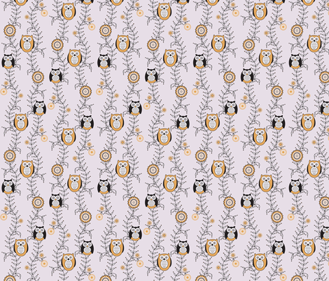 Modern Owls fabric by strive on Spoonflower - custom fabric