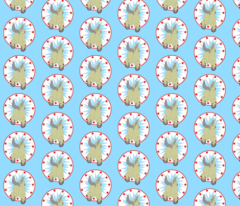 © 2011 Jumping Through Hoops fabric by glimmericks on Spoonflower - custom fabric