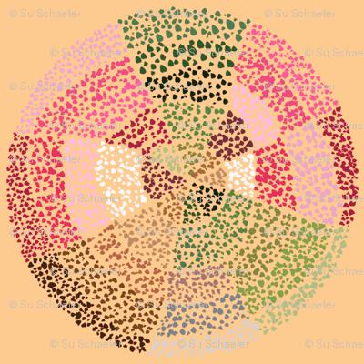 Dot circles on apricot by Su_G