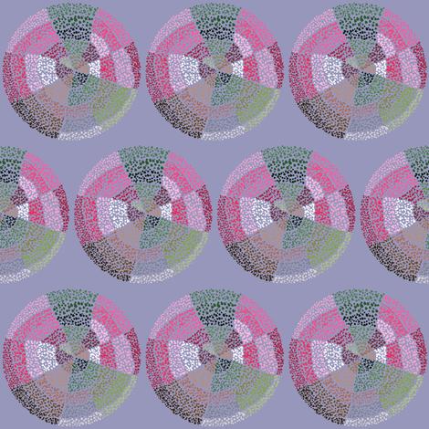 Dot circles on gray fabric by su_g on Spoonflower - custom fabric