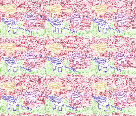 Saichania Dinosaurs by Ebi-kun aged 5 fabric by jojoebi_designs on Spoonflower - custom fabric