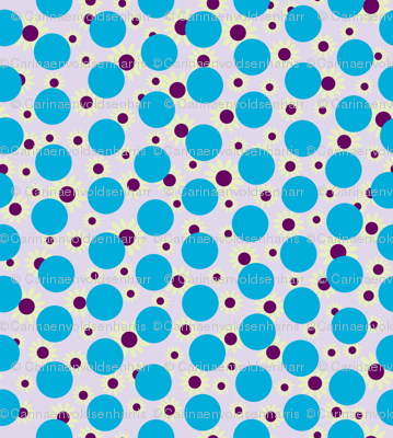 Blue Dots and Daisies