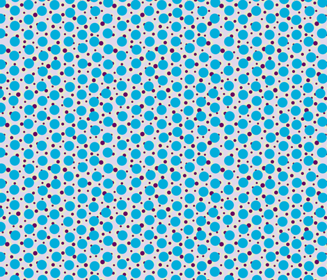 Blue Dots and Daisies fabric by carinaenvoldsenharris on Spoonflower - custom fabric