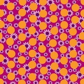 Orange Dots and Daisies