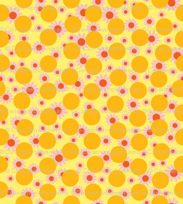 Yellow Dots and Daisies
