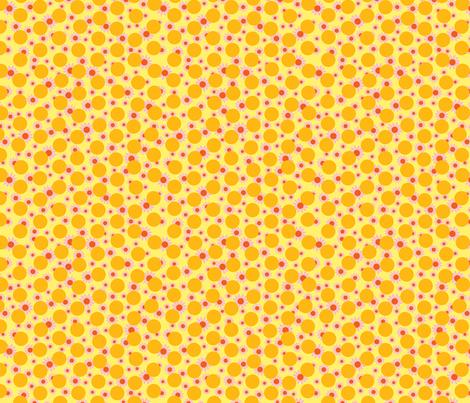 Yellow Dots and Daisies fabric by carinaenvoldsenharris on Spoonflower - custom fabric