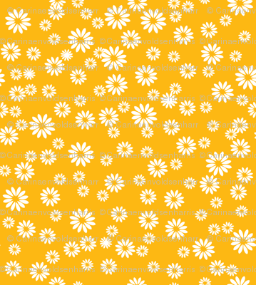 Tiny Daisies on Yellow
