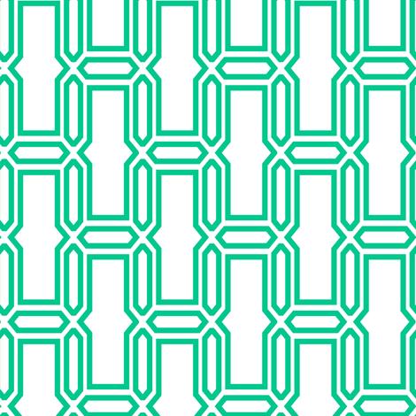 bricks_vertical_white_and_torquoise fabric by ravynka on Spoonflower - custom fabric