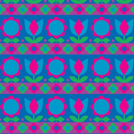 Danish_Tulip Magenta fabric by aliceapple on Spoonflower - custom fabric