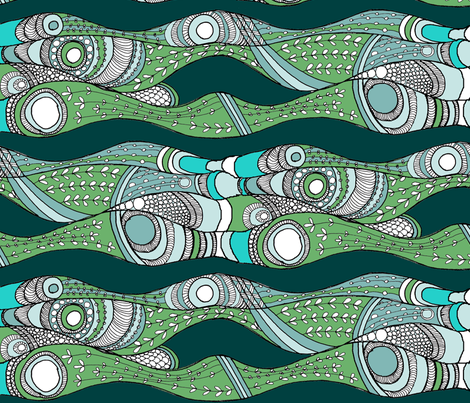 sea_weeds3 fabric by wiccked on Spoonflower - custom fabric