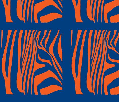 Pop Art Zebra 2 fabric by blue_jacaranda on Spoonflower - custom fabric