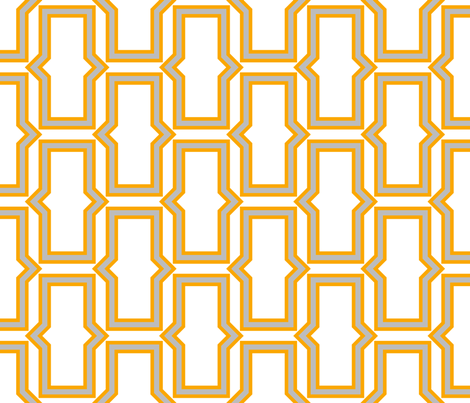 brick_pattern_grey_white_orange fabric by ravynka on Spoonflower - custom fabric