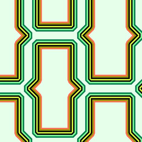 brick_pattern_technicolor fabric by ravynka on Spoonflower - custom fabric