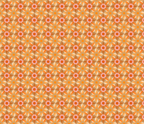 Sunflower in the Sunset fabric by joanmclemore on Spoonflower - custom fabric
