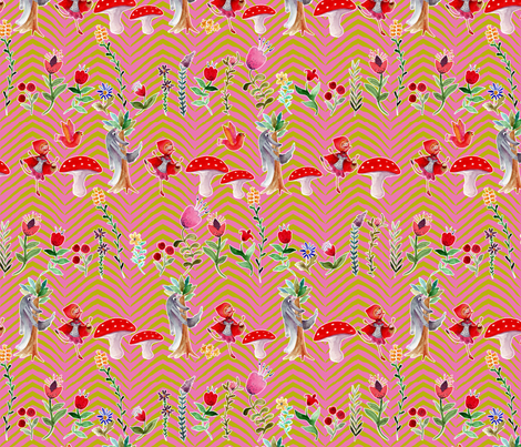 ribambelle_zebre fabric by nadja_petremand on Spoonflower - custom fabric