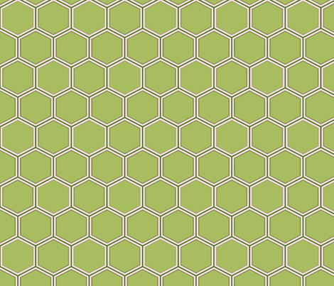 honeycomb fabric by littlerhodydesign on Spoonflower - custom fabric