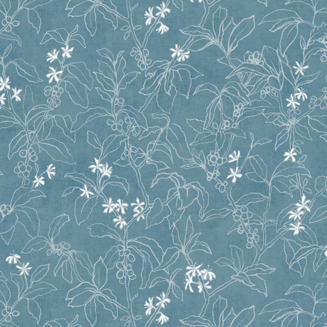 Arabica Cherry | Azure fabric by forest&sea on Spoonflower - custom fabric